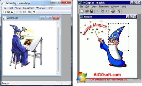 ภาพหน้าจอ ImageMagick สำหรับ Windows 10