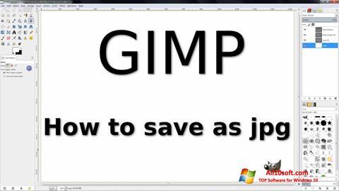 ภาพหน้าจอ GIMP สำหรับ Windows 10