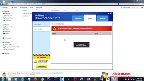 ภาพหน้าจอ DriverScanner สำหรับ Windows 10