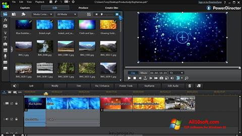ภาพหน้าจอ CyberLink PowerDirector สำหรับ Windows 10