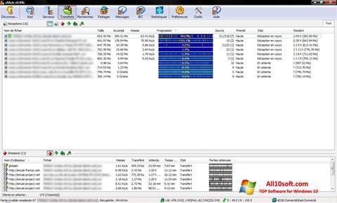 ภาพหน้าจอ eMule สำหรับ Windows 10