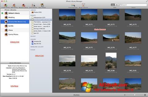 ภาพหน้าจอ iPhoto สำหรับ Windows 10