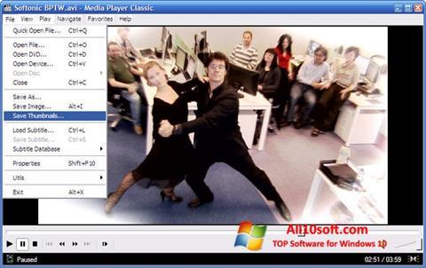 ภาพหน้าจอ Media Player Classic สำหรับ Windows 10