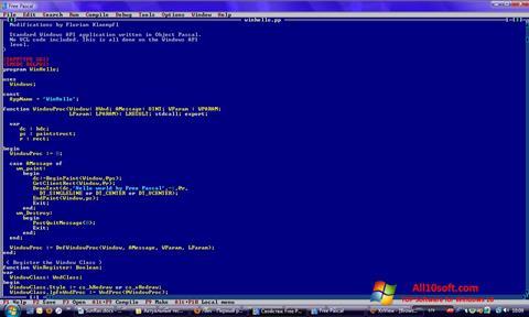 ภาพหน้าจอ Free Pascal สำหรับ Windows 10