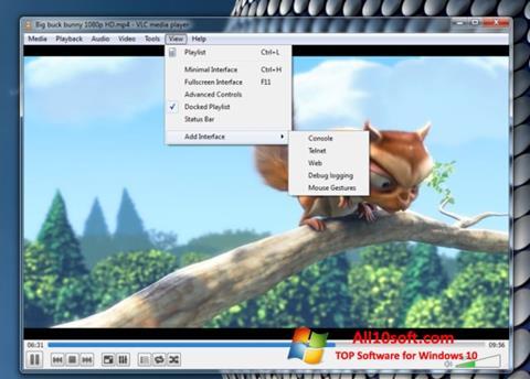 ภาพหน้าจอ VLC Media Player สำหรับ Windows 10