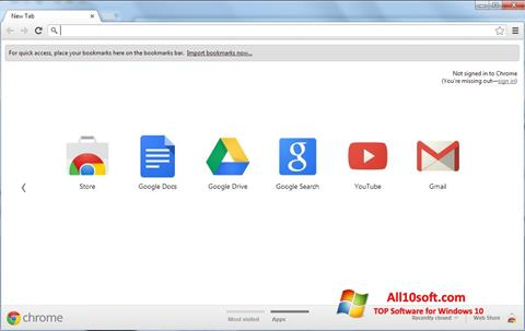 ภาพหน้าจอ Google Chrome สำหรับ Windows 10