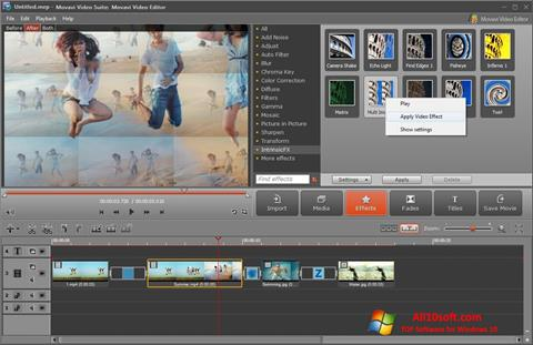 ภาพหน้าจอ Movavi Video Suite สำหรับ Windows 10