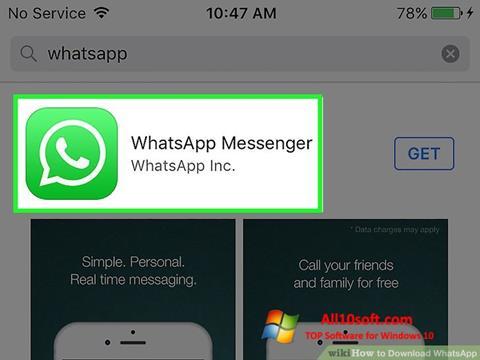 ภาพหน้าจอ WhatsApp สำหรับ Windows 10