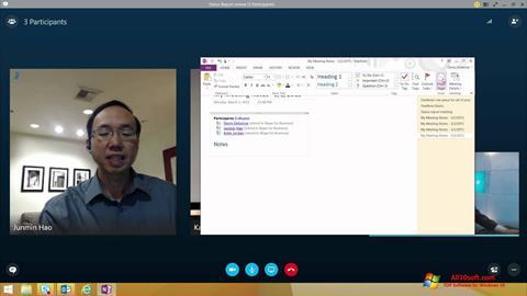 ภาพหน้าจอ Skype for Business สำหรับ Windows 10