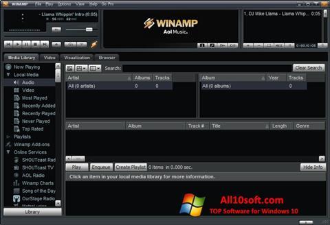 ภาพหน้าจอ Winamp Pro สำหรับ Windows 10