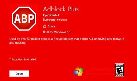 ภาพหน้าจอ Adblock Plus สำหรับ Windows 10