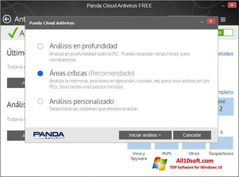 ภาพหน้าจอ Panda Cloud สำหรับ Windows 10