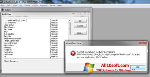 ภาพหน้าจอ VirtualDub สำหรับ Windows 10