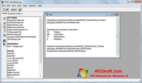 ภาพหน้าจอ HTML Help Workshop สำหรับ Windows 10